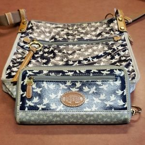 Fossil matching wallet and purse
